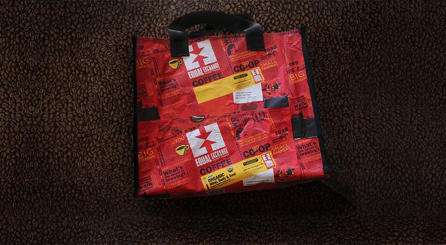 DIY Tote Bag with Fair Trade Coffee Bags