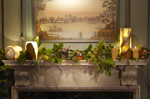 Sophisticated Twilight Mantel - Fireplace Mantel Ideas