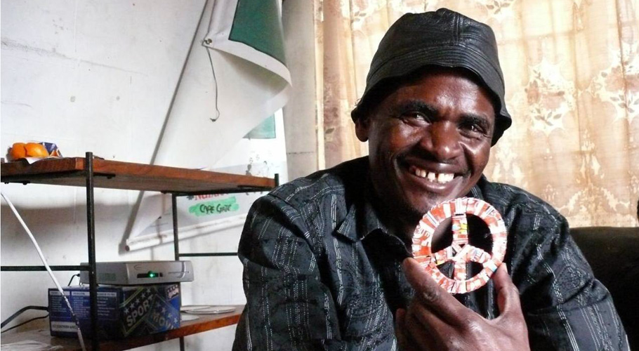 Victor Chiteura, recycled metal artisan at African Home in South Africa.