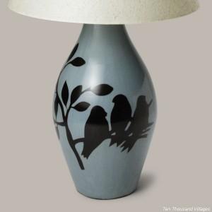 Songbirds lamp - chulucanas handmade pottery