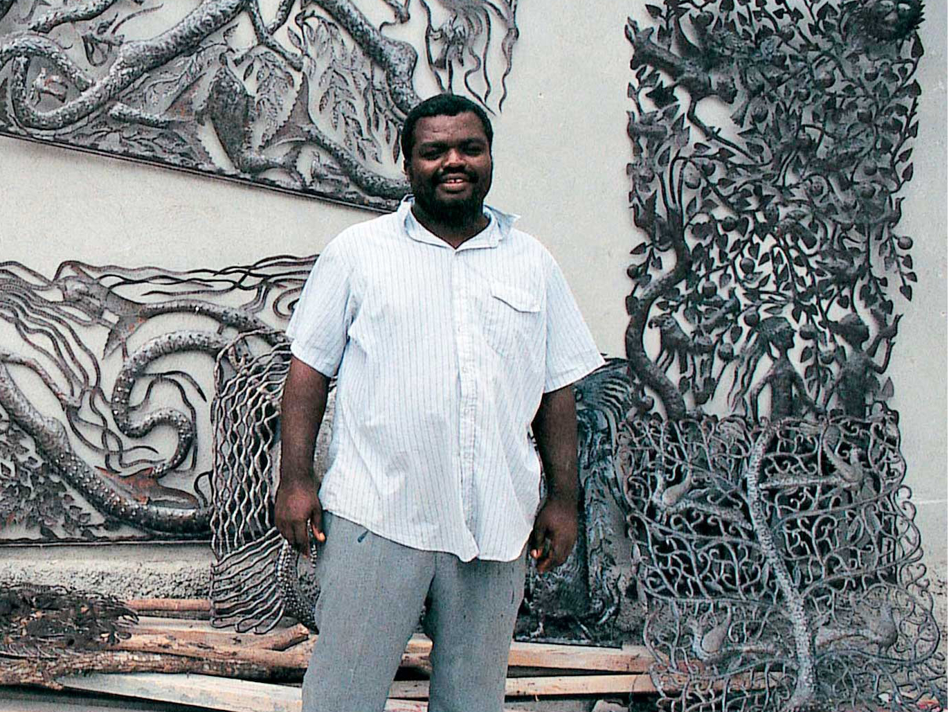 Cut Metal Wall Hanging - Haitian Artisan, Remy #LiveLifeFair #TenThousandVillages #FairTrade