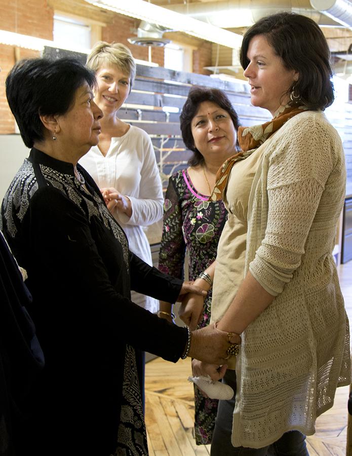 "Fair Trade Month - Manushi translates to ""energetic woman"""