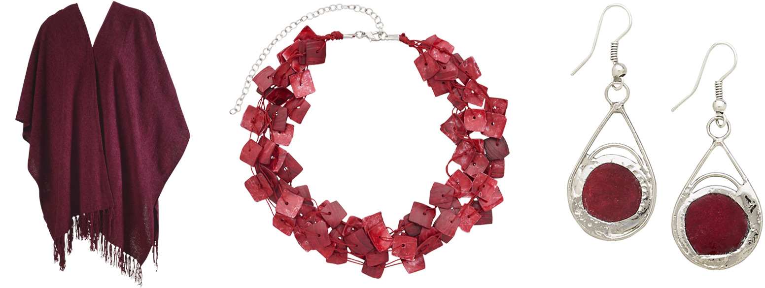 2015 Pantone Color of the Year, Marsala, Fair Trade Jewelry and Home Decor