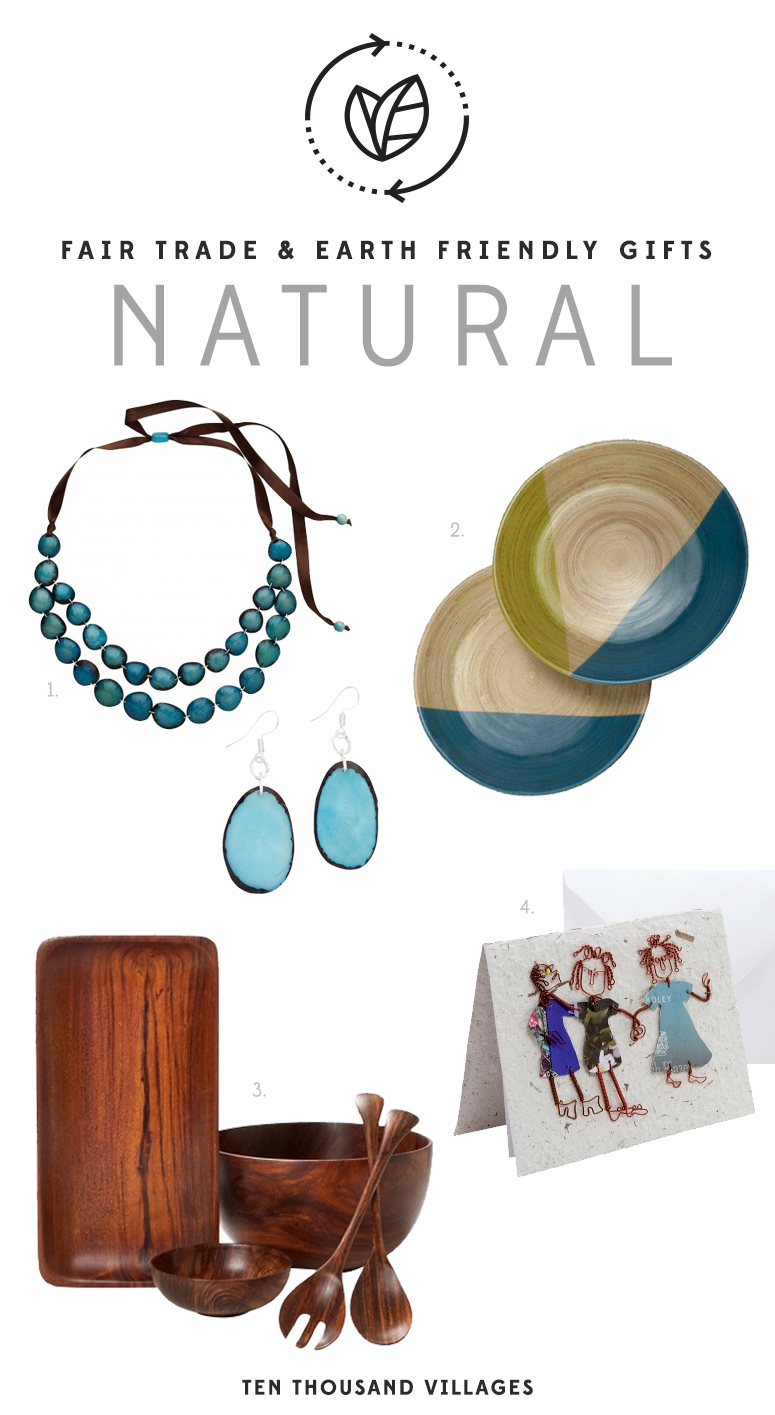 Celebrate Earth Day with all things Natural & Recycled. Fair Trade Gifts from Ten Thousand Villages | #LiveLifeFair