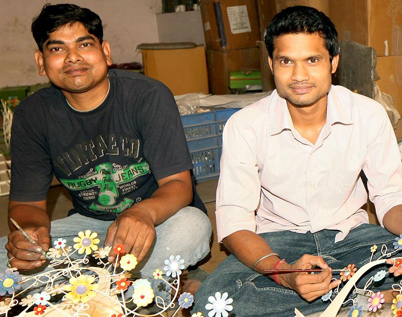 Moradabad, India   Hand-painted metalwork   Fair Trade Home   Tangled Vines
