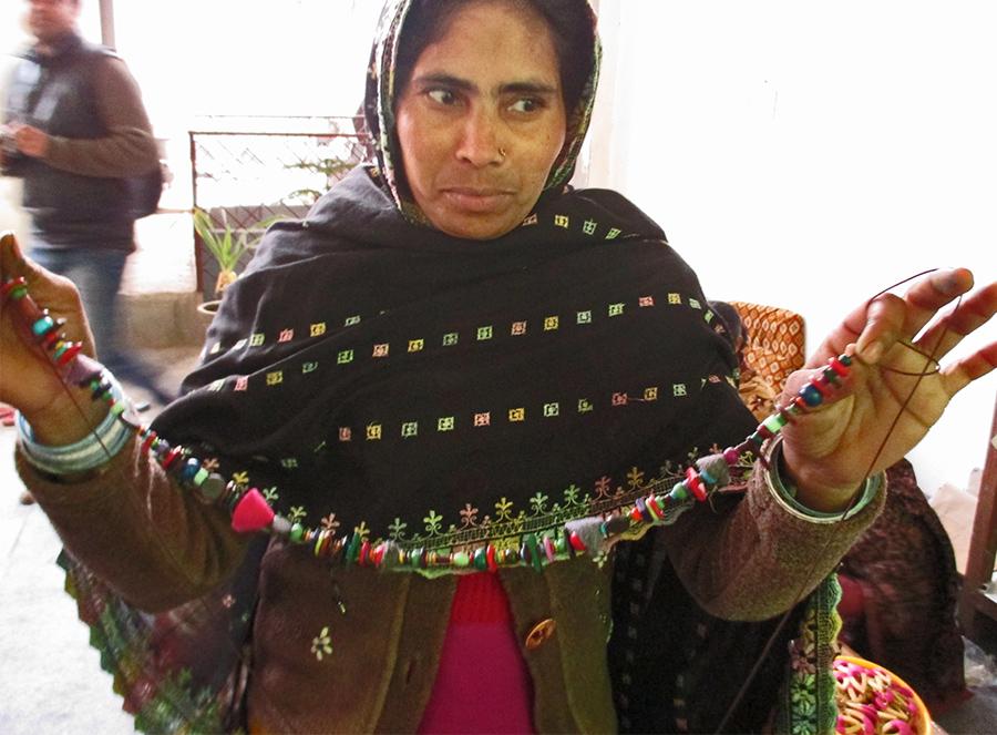 Resourcefulness & Innovation: Tara Projects, Art Teacher Necklace, Handmade Beads