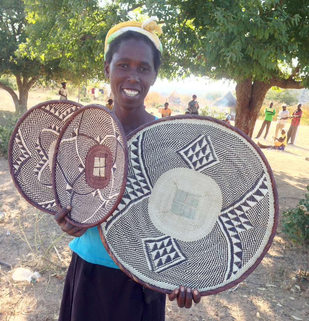 Zimbabwe | Cecilia stays very busy weaving, teaching, and farming.