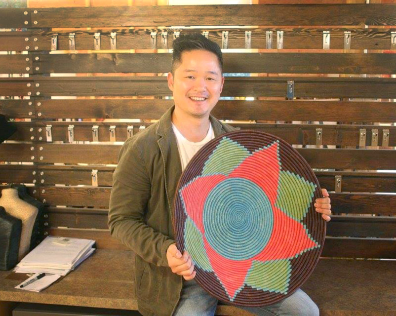 """Danny Seo visited Ten Thousand Villages home office to select gifts to feature in his December 2016 Magazine, """"Naturally, Danny Seo""""."""