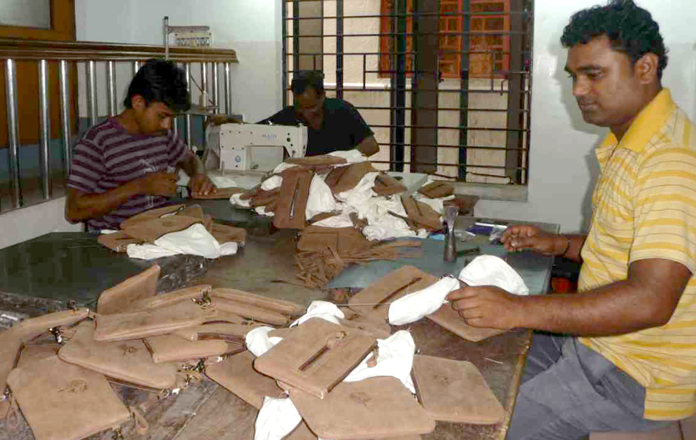 Eco-leather: free of chemicals, full of hope. CRC, ACP workshops provide fair wages for employees.
