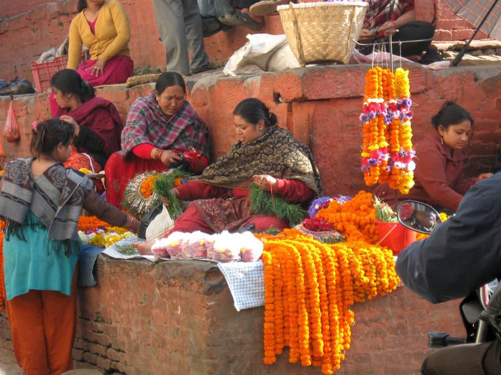 Ten Thousand Villages, Mosaic. Nepal: A Journey Through the Mountains — Kathmandu Streets, Flower Garlands