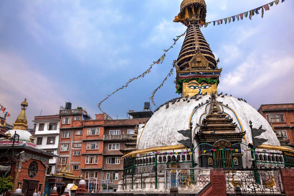 Ten Thousand Villages, Mosaic. Nepal: A Journey Through the Mountains — Kathmandu, Buddha & Prayer Flags