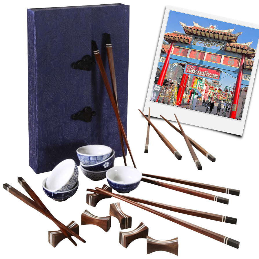 Unique Anniversary Gifts: 20th - China — Visit Chinatown & a Chopstick Set