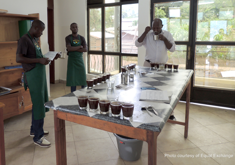 Aromas, appearance, taste and texture are all taken into account during coffee cuppings. #LiveLifeFair