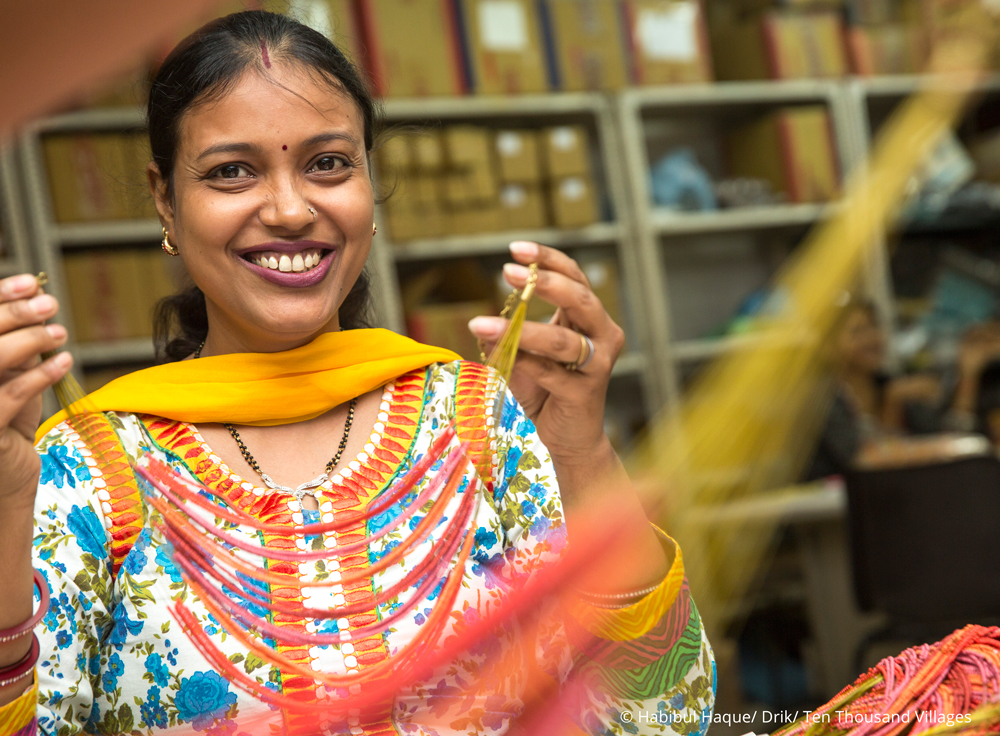 From India, with love. Ten Thousand Villages, Fair Trade