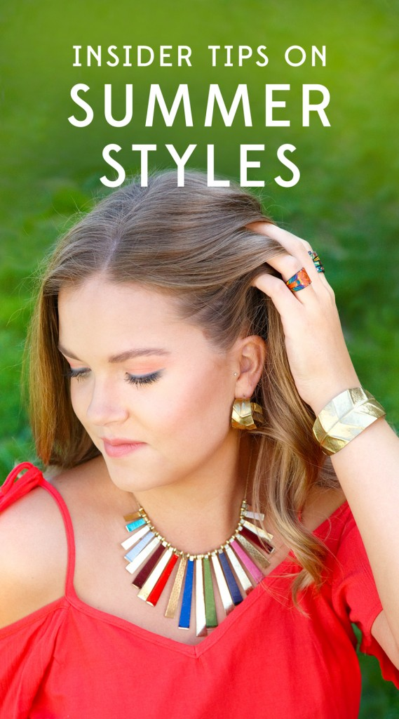 Ten Thousand Villages stylist, Gina, gives us expert tips on summer styles.