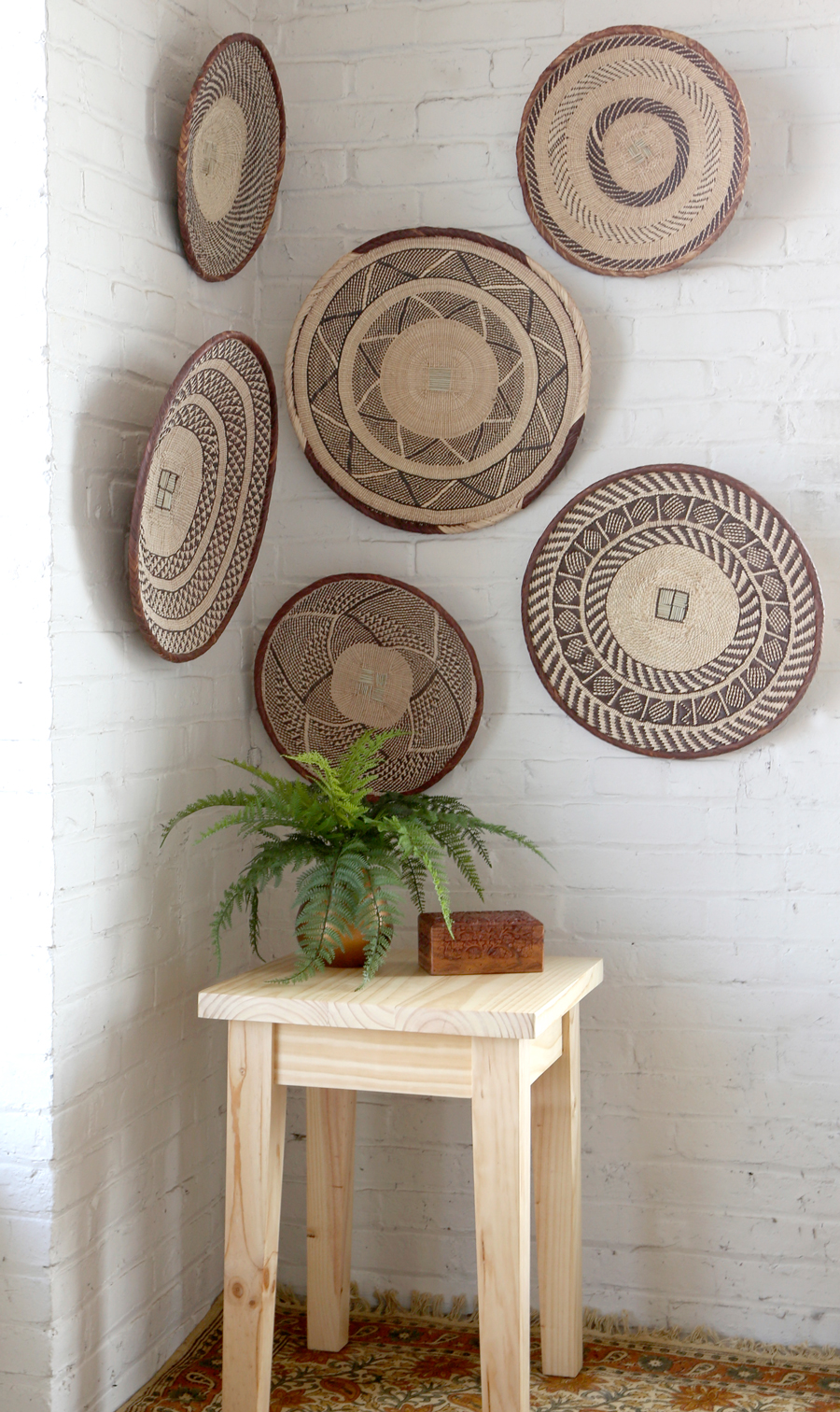A fair trade basket wall is the easiest way to give any room the world-travelled look you've been looking for. #LiveLifeFair