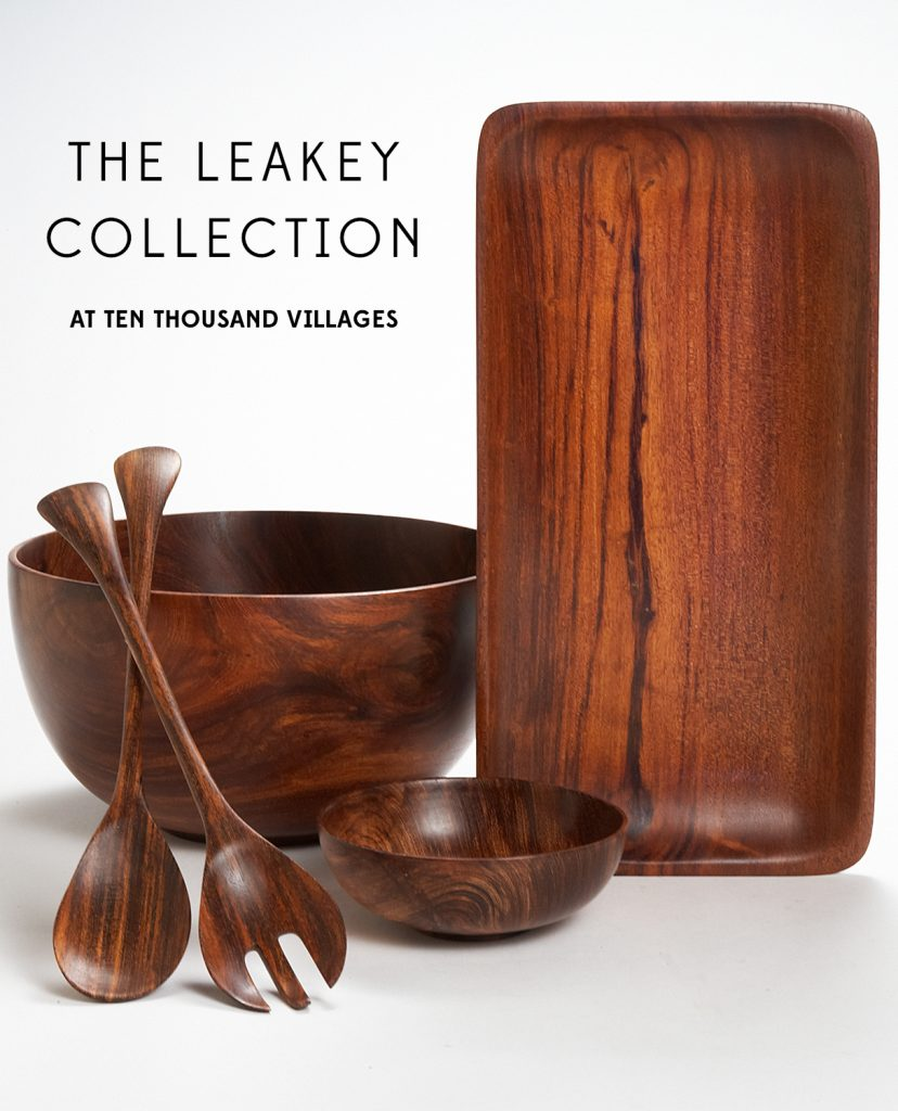 The Leakey Collection, From East African Fallen Trees, Acacia Wood Serve-wear, Ten Thousand Villages, Fair Trade Home