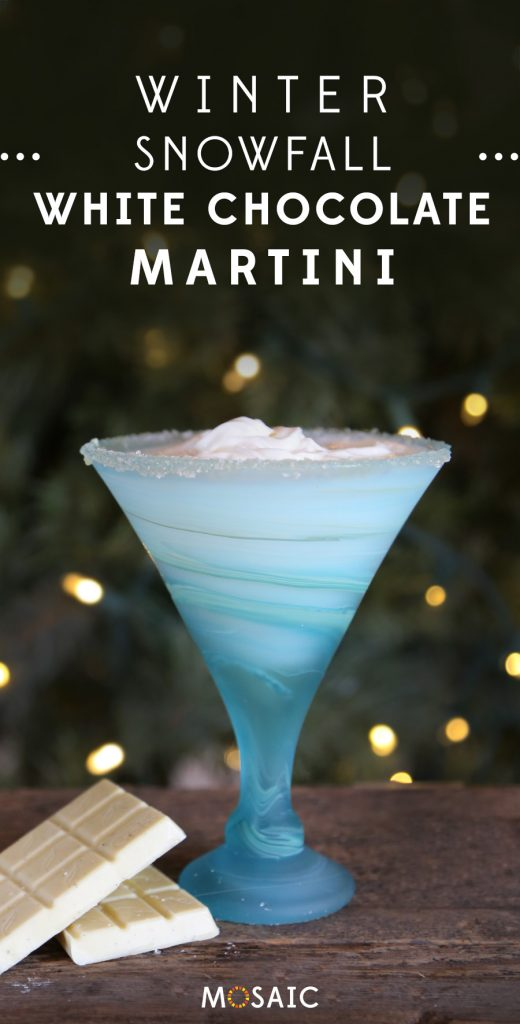 7 Seasonal Holiday Cocktail & Mocktail Recipes | Winter Snowfall White Chocolate Martini | Ten Thousand Villages | #LiveLifeFair