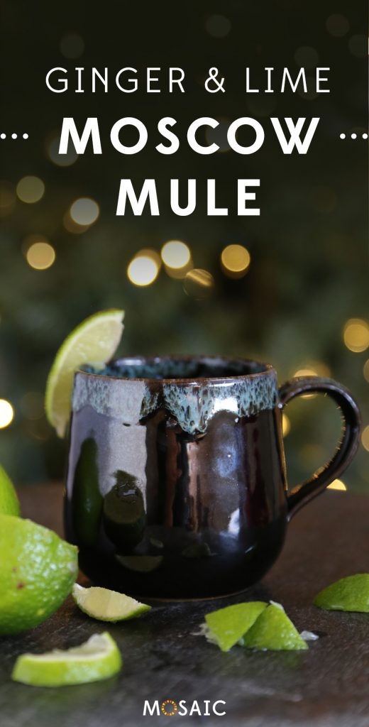 7 Seasonal Holiday Cocktail & Mocktail Recipes | Ginger & Lime Moscow Mule | Ten Thousand Villages | #LiveLifeFair