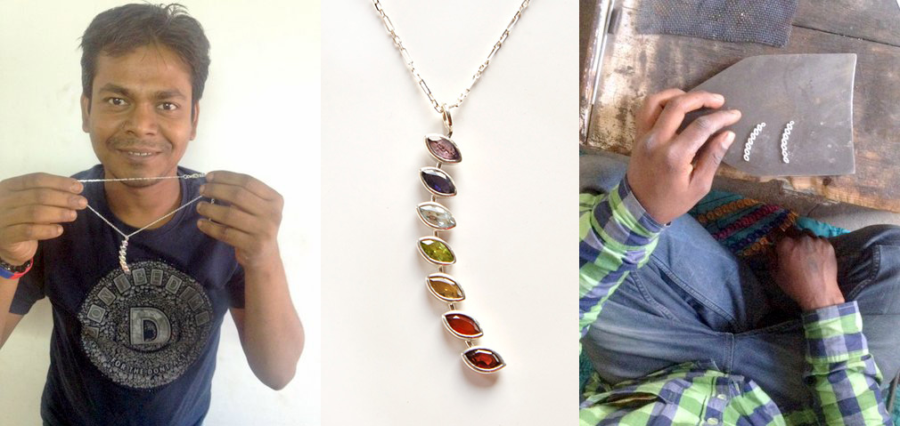 What are chakras and how do they work? A beginner's guide to balancing your energy flow. Ten Thousand Villages, fair trade chakra stone necklace and earrings.