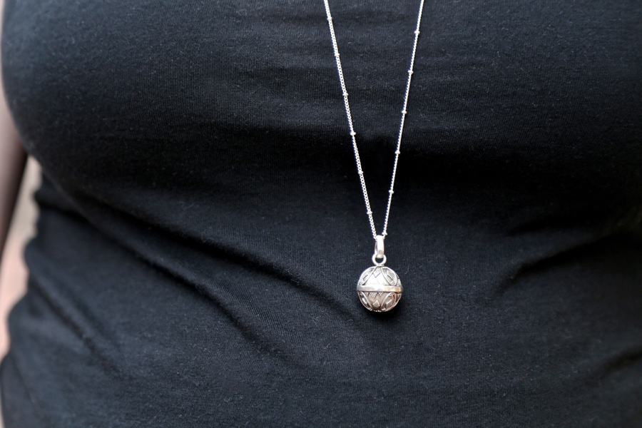 Fair trade, handcrafted traditional Harmony Bell Necklace is a great Baby Shower Gift Idea!   Ten Thousand Villages #LiveLifeFair