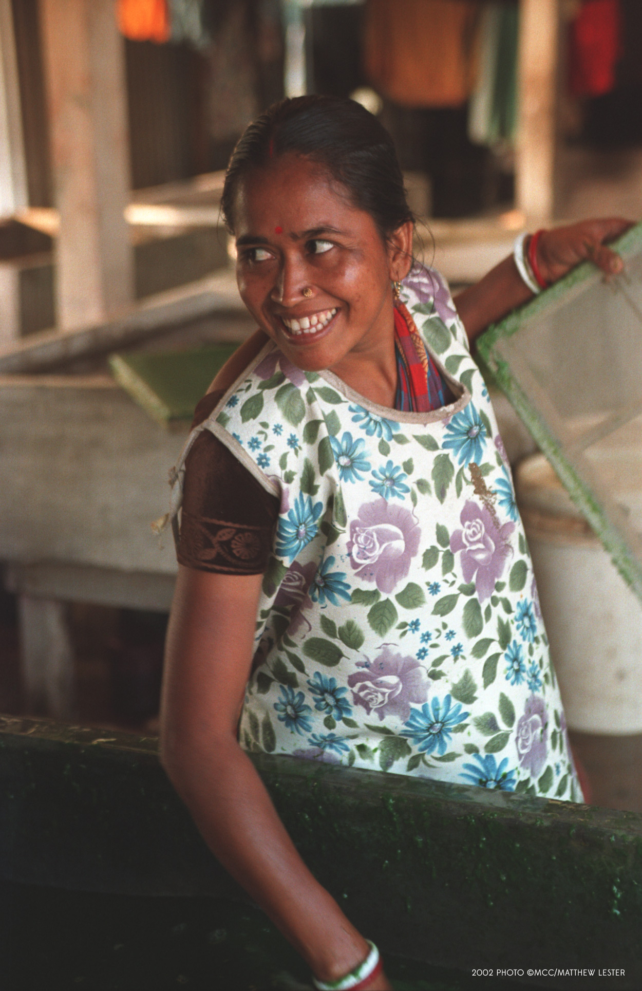 The story of Rina Dewri. She has two children and job with Birborton Handmade Paper project in Agailjhara, Bangladesh. | Ten Thousand Villages, Fair Trade Gifts #LiveLifeFair