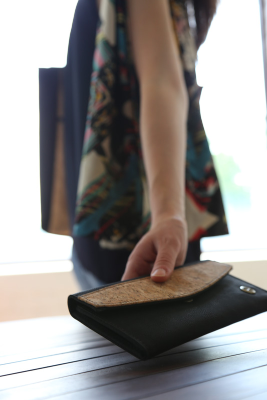 Don't leave without your Handcrafted cork wallet! #livelifefair