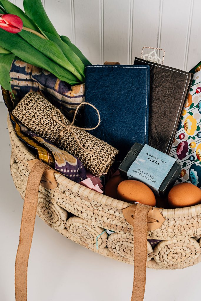 Eco-Friendly Easter Baskets | Natural Hemp Washcloth and Dead Sea Soap