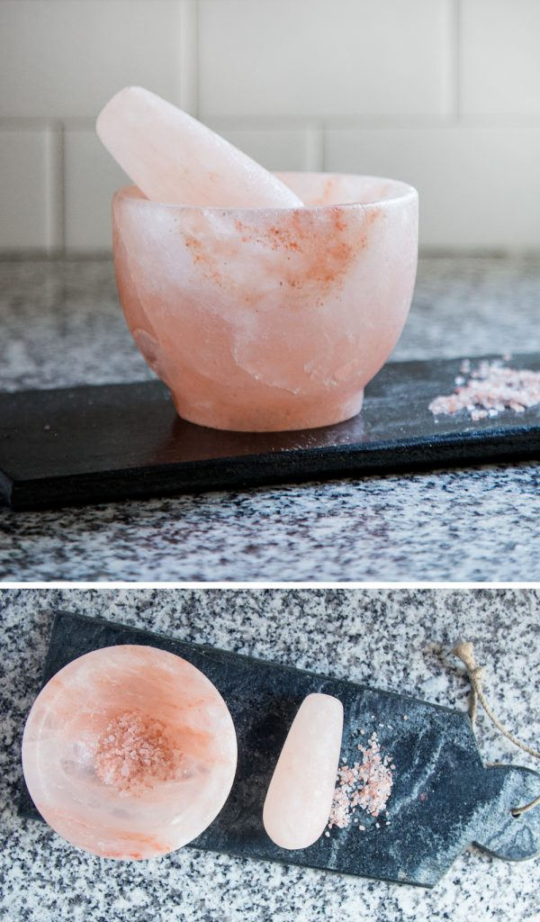 Salt Crystal Mortar and Pestle