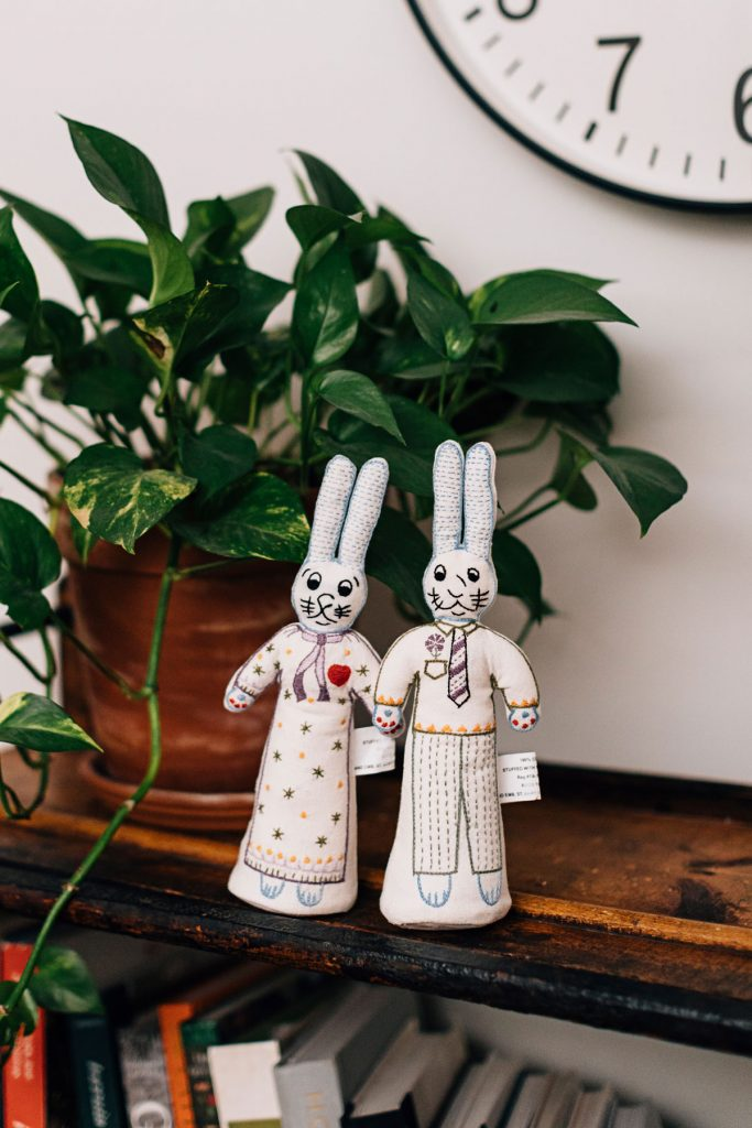 St Mary's | Hand-embroidered Cotton Bunnies