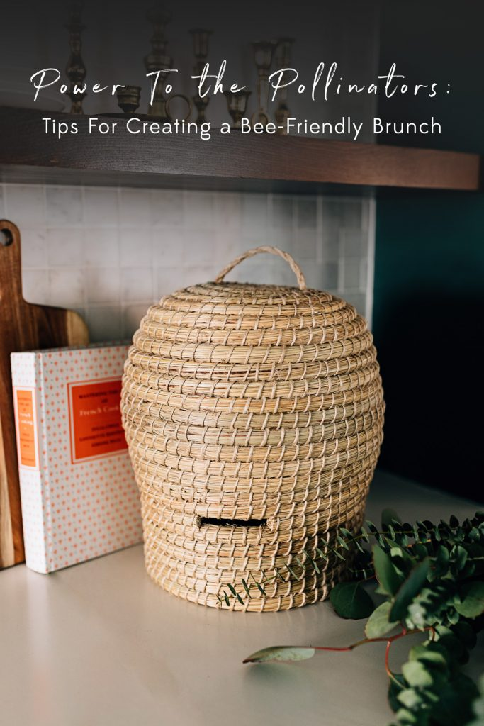 Power To the Pollinators | Bee Skep Basket