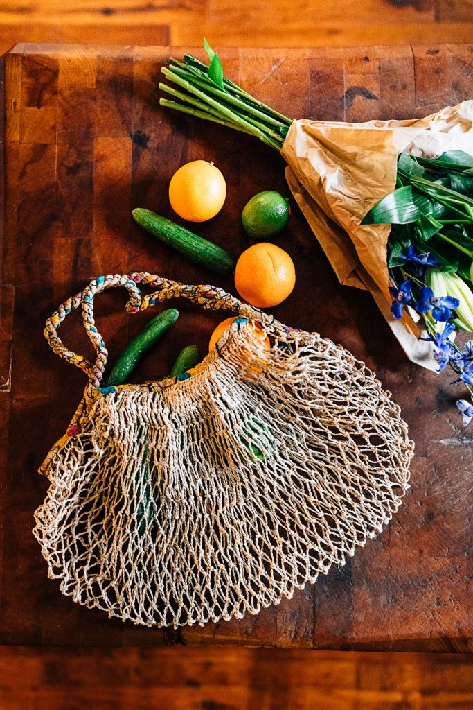 Reduce Waste | Sari and Jute Slouchy Net Bag