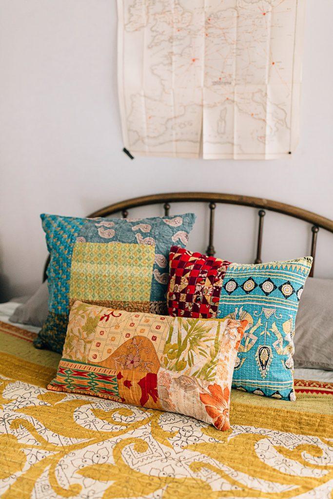 Dorm Decor | Recycled Sari Pillows