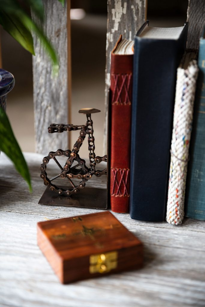 Dorm Decor | Bicycle Chain Bookends