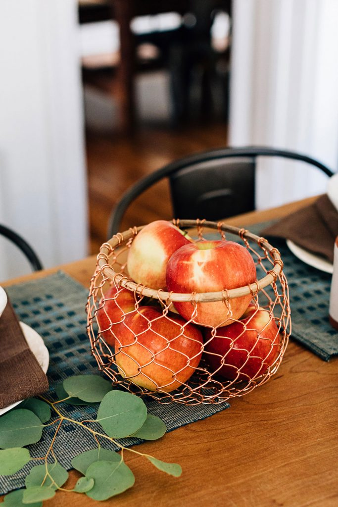 Ethical Holiday Table | Copper & Bamboo Basket