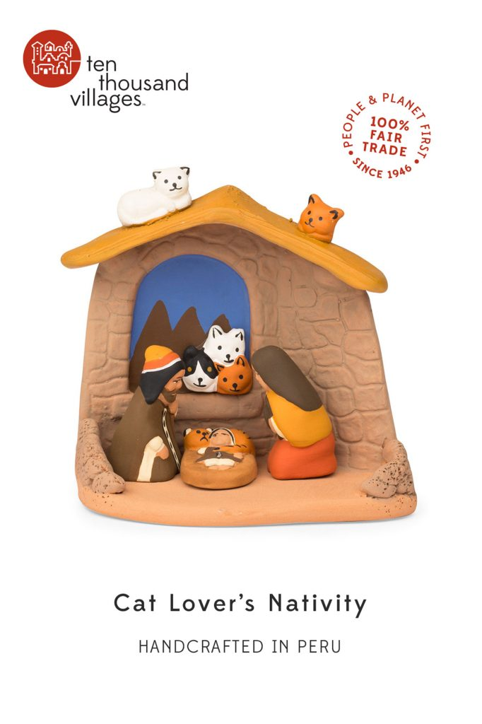 Novel Nativities | Cat Lover's Nativity