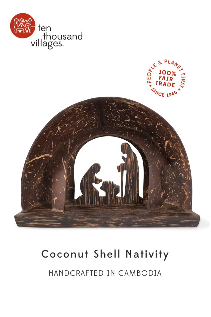 Novel Nativities | Coconut Shell Nativity