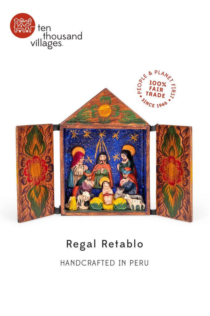 Novel Nativities   Regal Retablo