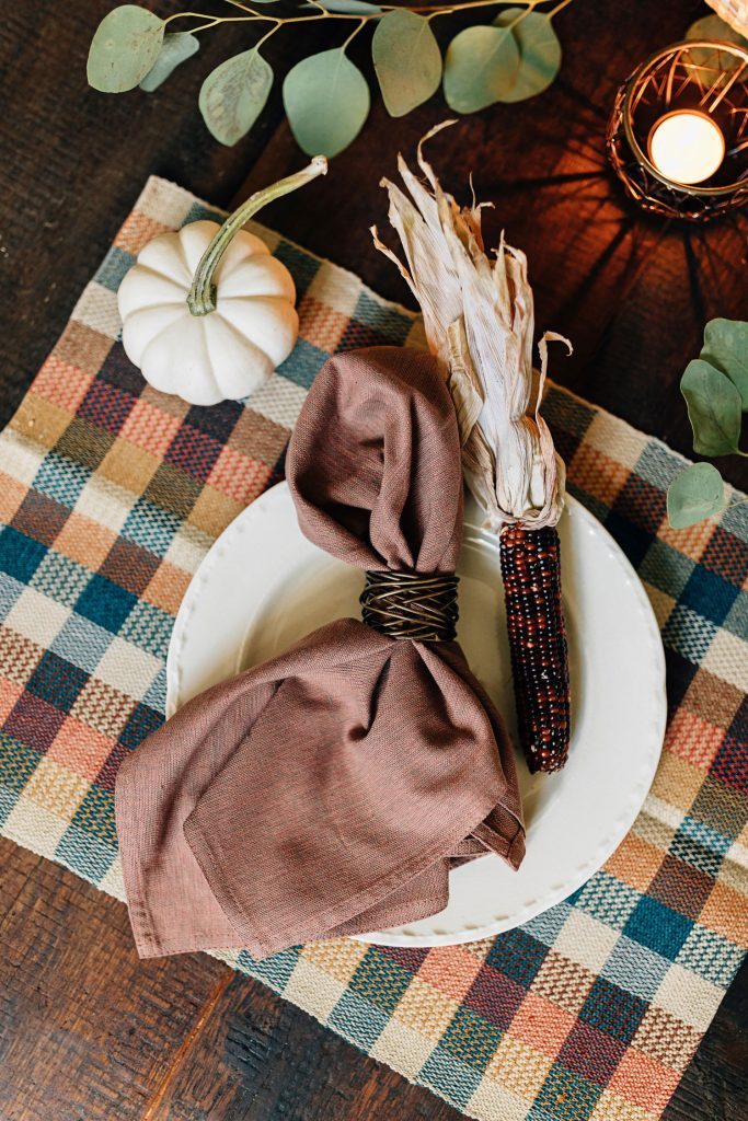 Ethical Holiday Table | Twisted Brass Napkin Ring