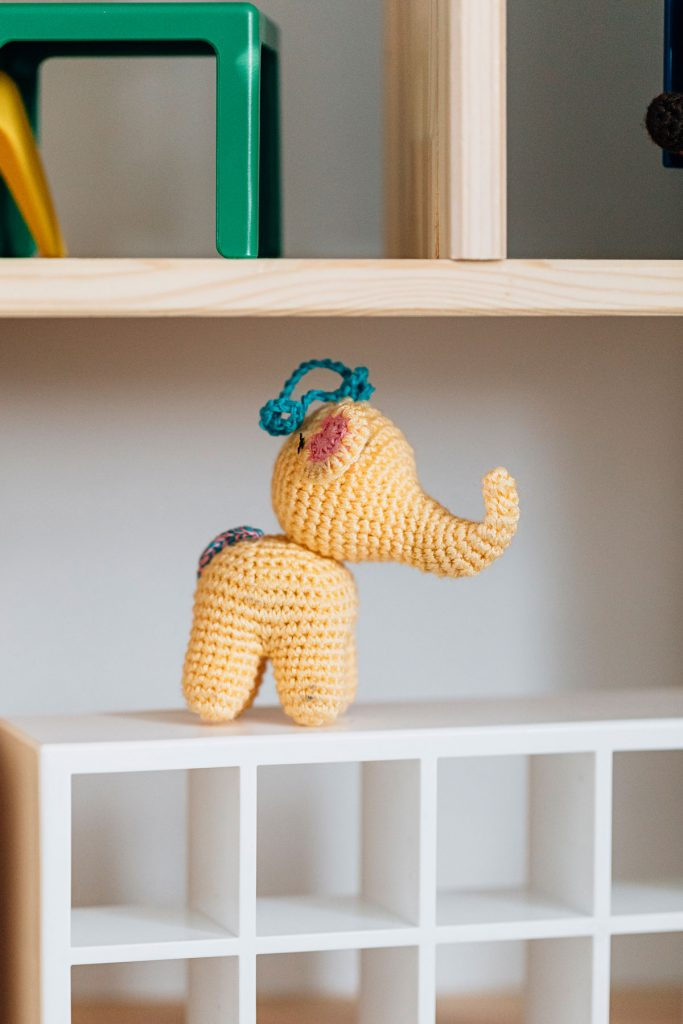 Ethical Baby Gifts | Hand-crocheted Elephant Ornament