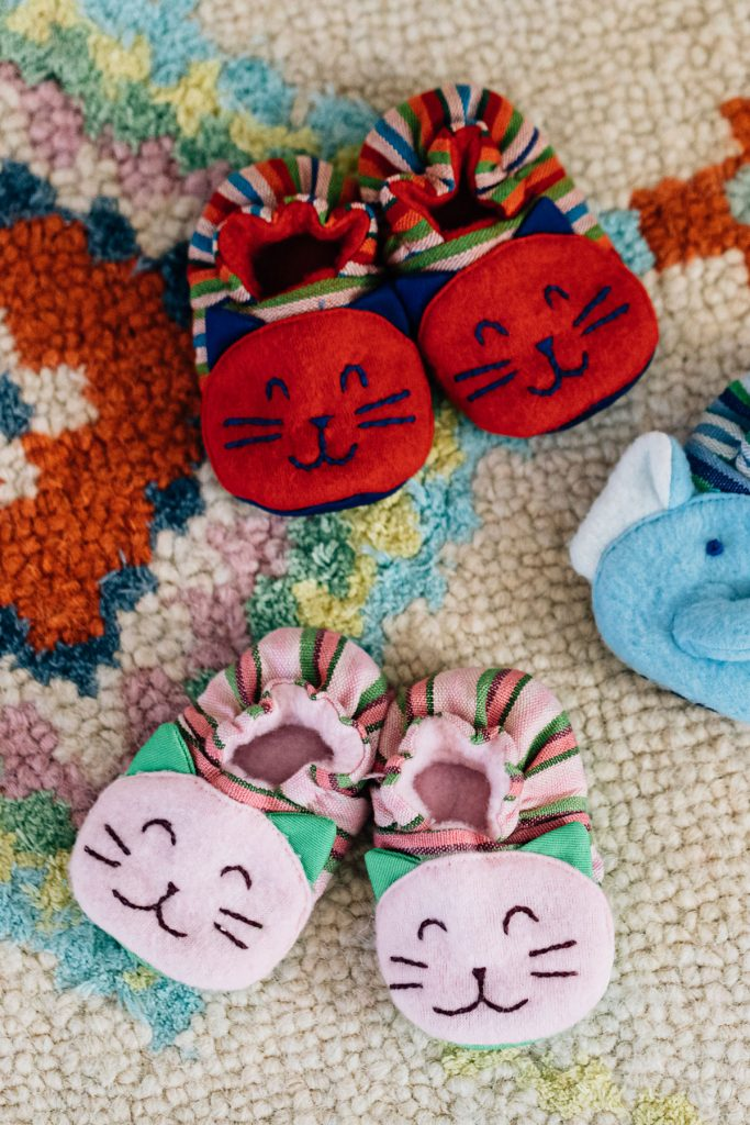 Ethical Baby Gifts | Smiling Kitty Booties
