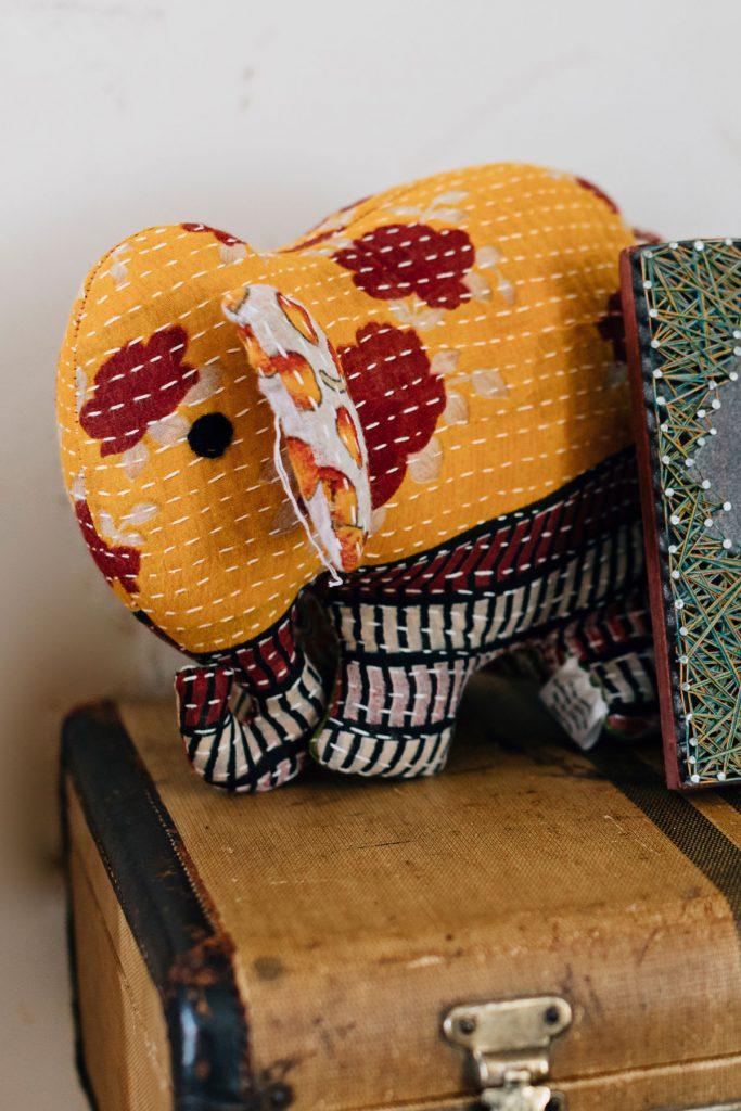 Ethical Baby Gifts | Upcycled Sari Elephant