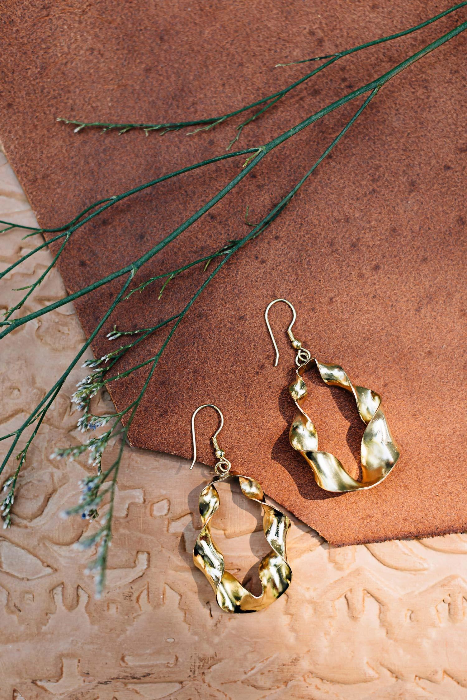 Ethical Earrings   Spiral Hoop Earrings