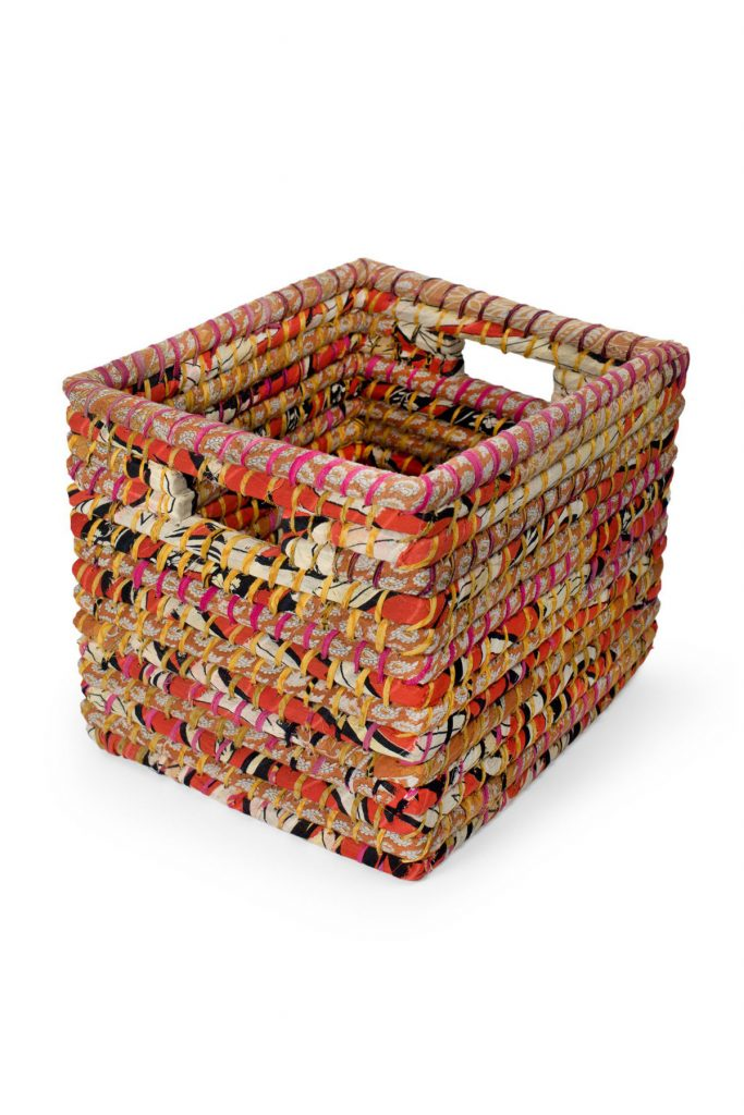 Organize with fair trade baskets | Sari Storage Basket