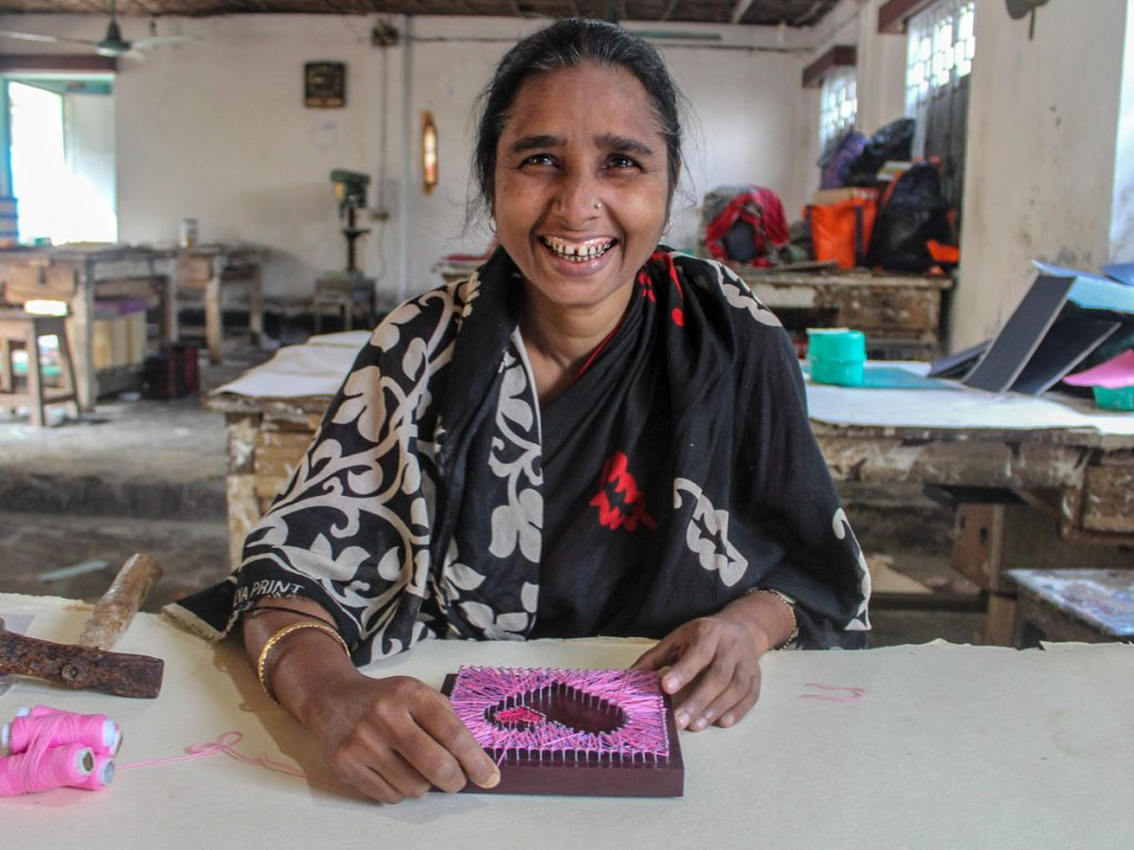 Meet Begum, artisan of Bonoful Handmade Paper and maker of the Lots of Love Wall Hanging.
