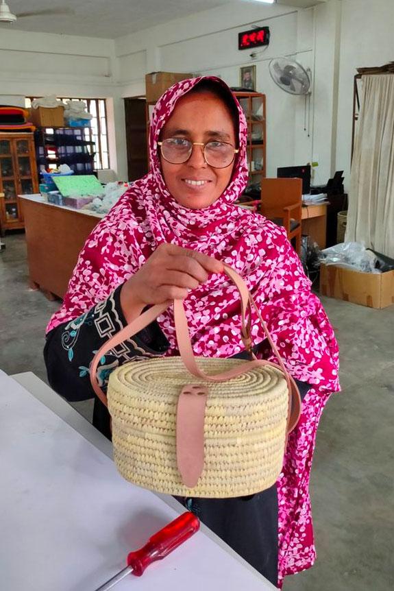 Mrs. Begum | Maker of the Crossbody Woven Purse
