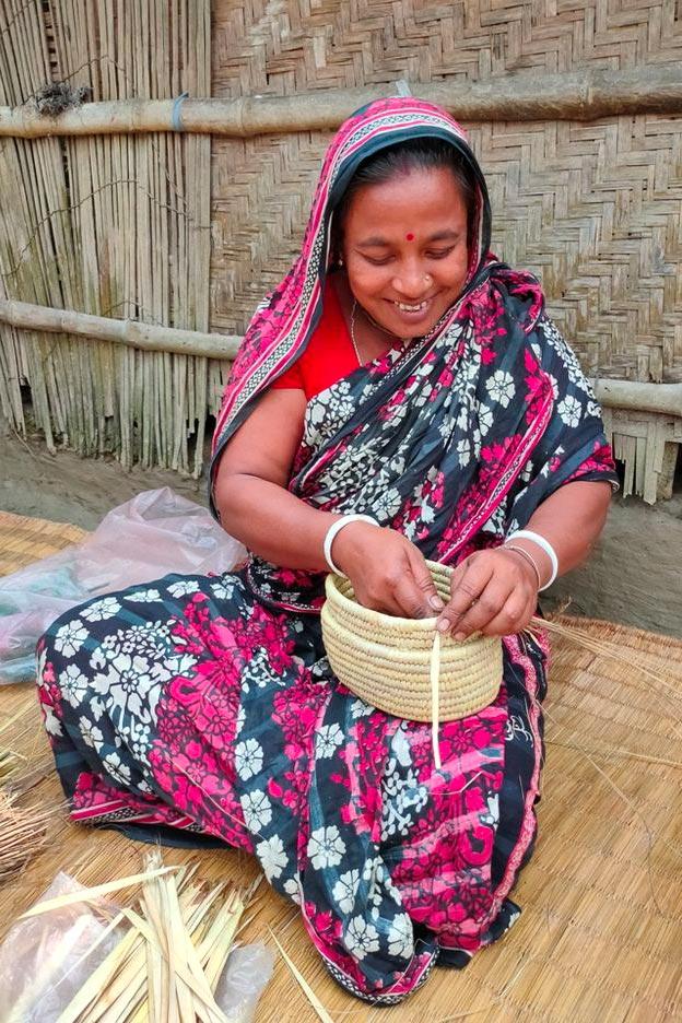 Mrs Sarker | Maker of the Crossbody Woven Purse