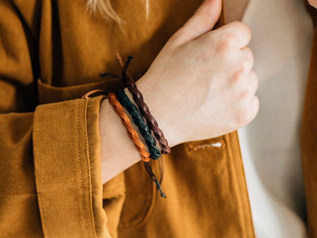 Twisted Braided Bracelet Set
