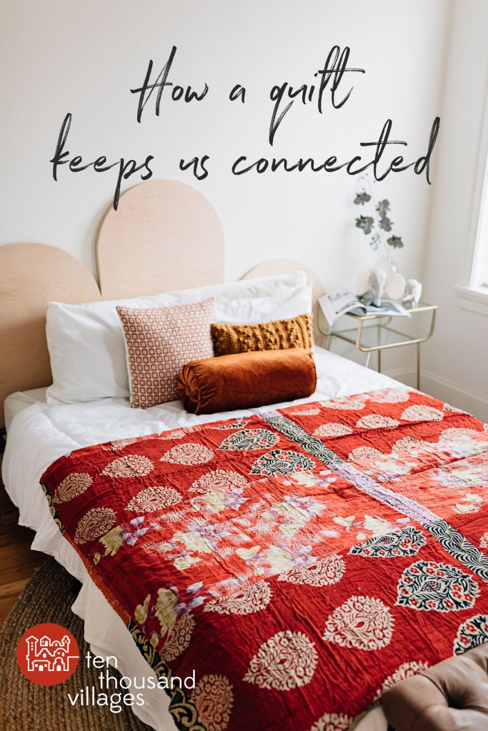 Sari Patchwork Twin Bed Cover
