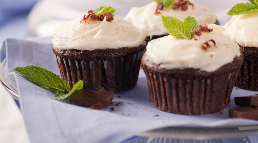 Mint Chocolate Filled Cupcake Recipe - Photo c/o Equal Exchange